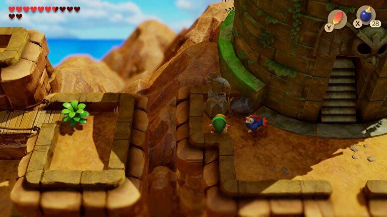 【ゼルダの伝説 夢をみる島】攻略の流れ12「空飛ぶニワトリ」~「大鷲の塔」のカギを開けるまで【リメイク】