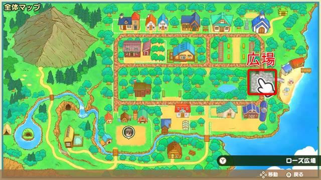【牧場物語 再会のミネラルタウン】バァンのペットショップまとめ 画像1 バァンのペットショップの場所