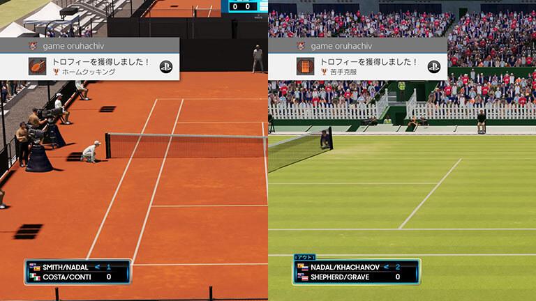 『AOテニス2』の2つのトロフィー「ホームクッキング」と「苦手克服」の獲得方法